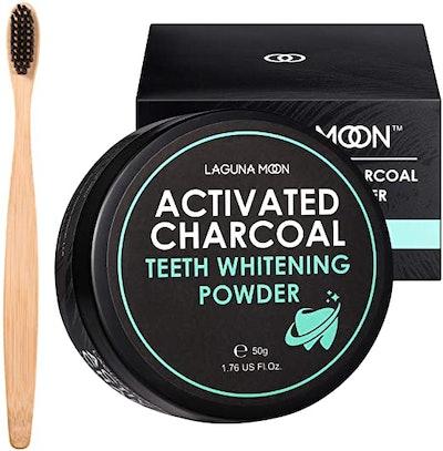 Lagunamoon Activated Charcoal Natural Teeth Whitening Powder (1.76 Oz)