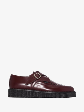 Buckled Leather Creeper Shoes