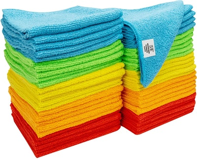 S&T INC. Microfiber Cleaning Cloths (50 Pack)