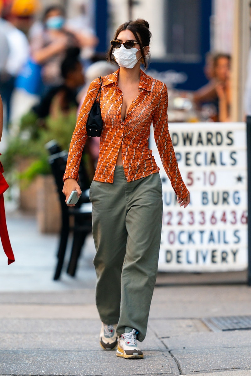 Emily Ratajkowski is seen in Tribeca on July 29, 2020 in New York City.