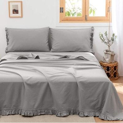 Simple&Opulence Belgian Linen Sheets, 4-Piece Set