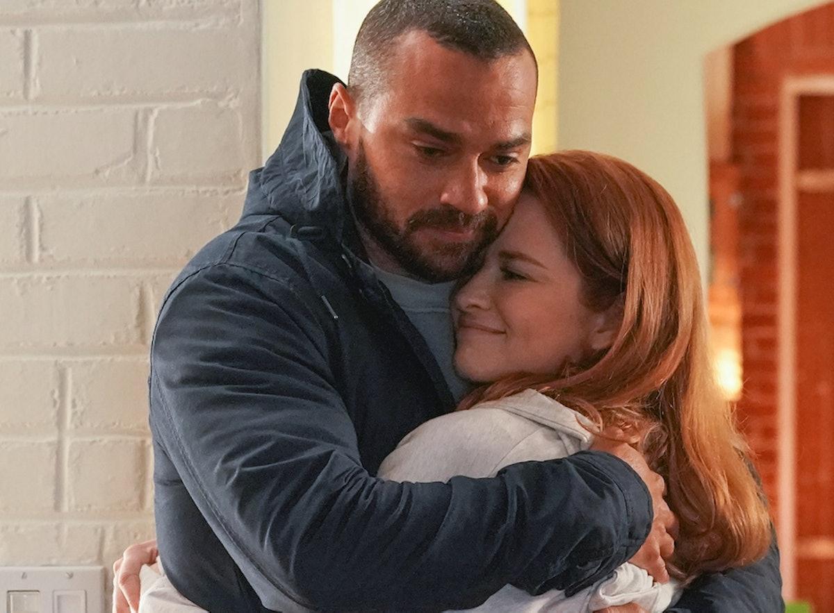 Jesse Williams as Jackson and Sarah Drew as April in Grey's Anatomy.
