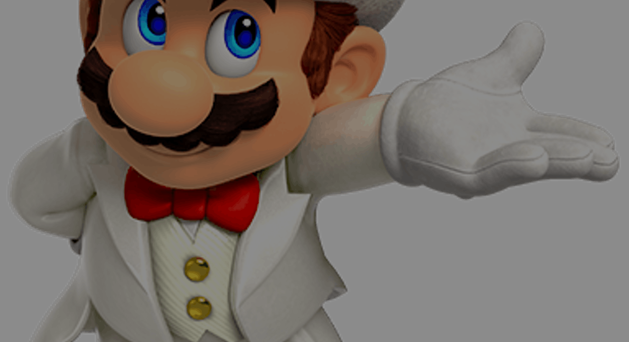 Mario in white suit. Ray tracing. Video games. PC. Gaming. Games. Nintendo.