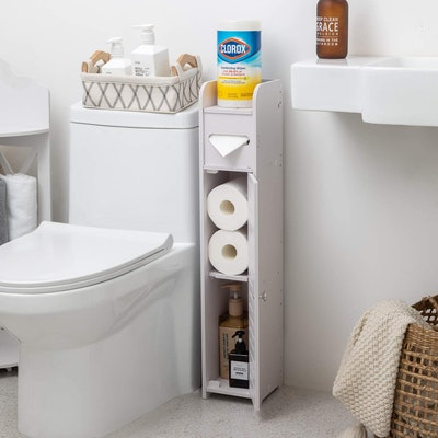 AOJEZOR Bathroom Storage Corner Floor Cabinet