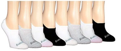 Saucony No-Show Cushioned Socks (8-Pack)
