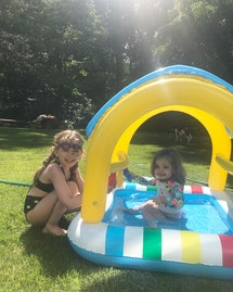 Even big kids love playing in this baby pool.