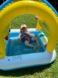 This $15 Target baby pool is the perfect size.