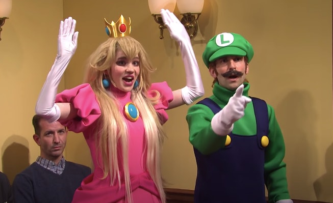 Grimes made a surprise appearance on Saturday Night Live, appearing as Princess Peach in a sketch with Elon Musk as Warrio.