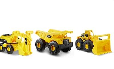 "Cat Construction 7"" Dump Truck, Loader & Excavator Toys Combo Pack"