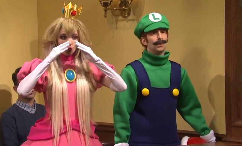 Grimes appeared as Princess Peach on 'SNL.' Screenshot via SNL Twitter