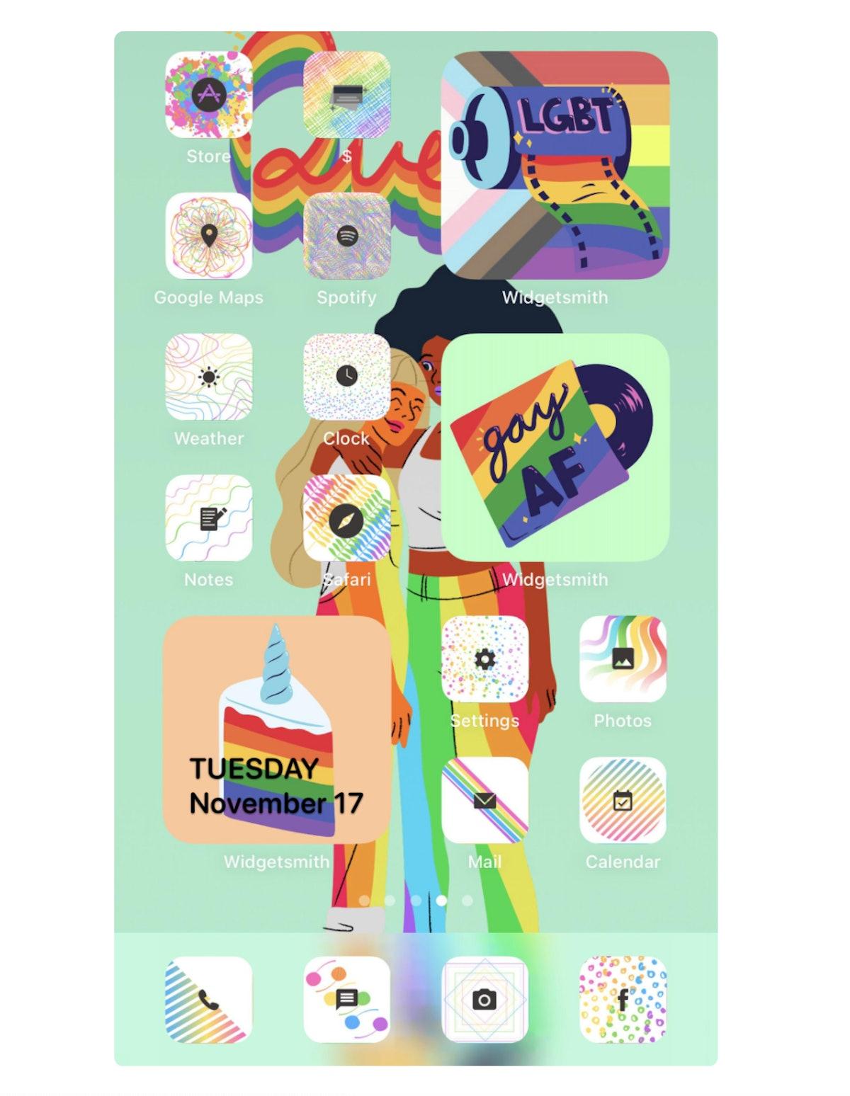 Rainbow Pride iPhone Icon Pack iOS 14