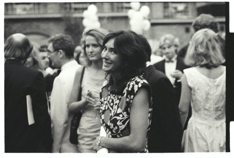black and white photo of ghislaine maxwell