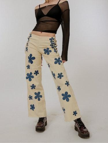 Senna Denim Flower Pants