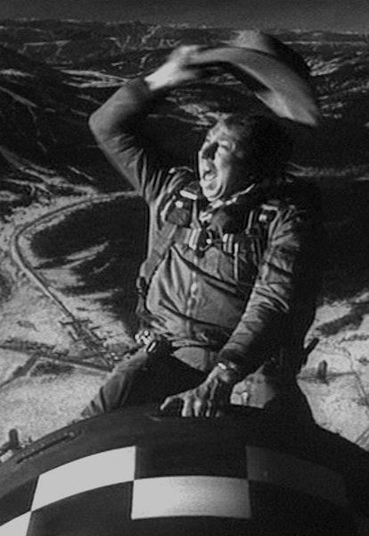 slim pickins riding atomic bomb in dr strangelove