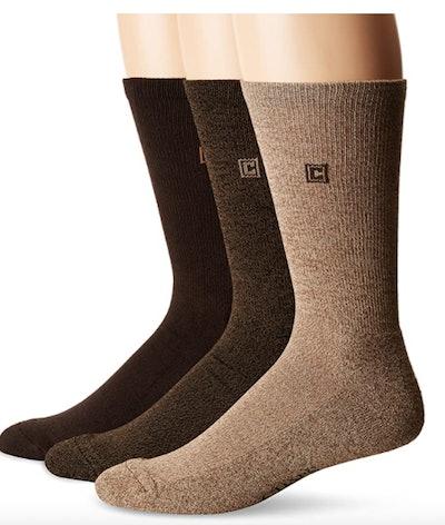 Chaps Men's Assorted Solid Dress Crew Socks