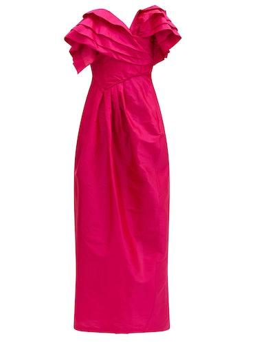 Zita Ruffled Silk-Taffeta Dress