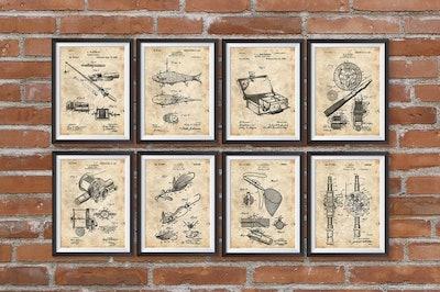 Fishing Patent Prints