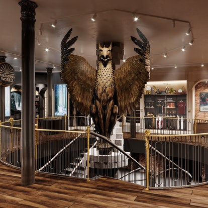 The griffin inside Harry Potter New York, the flagship store in NYC.