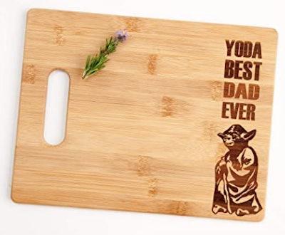 Yoda Best Dad Ever Cutting Board
