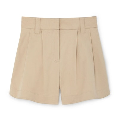 G.Label Heather Side-Snap Shorts