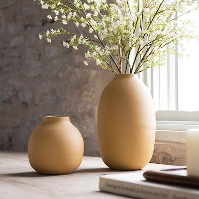 Mustard Carter Vase