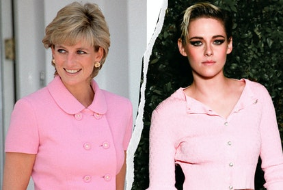 Here's every time that Kristen Stewart and Princess Diana twinned ahead of 'Spencer,' proving that they are a style match made in heaven.
