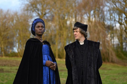 Anne Boleyn (Played by Jodie Turner-Smith) and Thomas Cromwell (Played by Barry Ward)