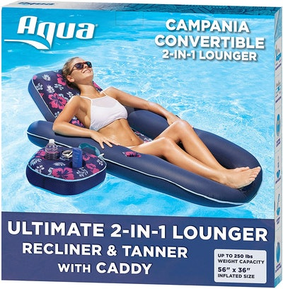 Aqua Campania Ultimate 2 in 1 Recliner & Tanner Pool Lounger