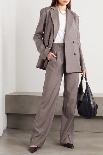 Tatakoto Double-Breasted Wool Blazer