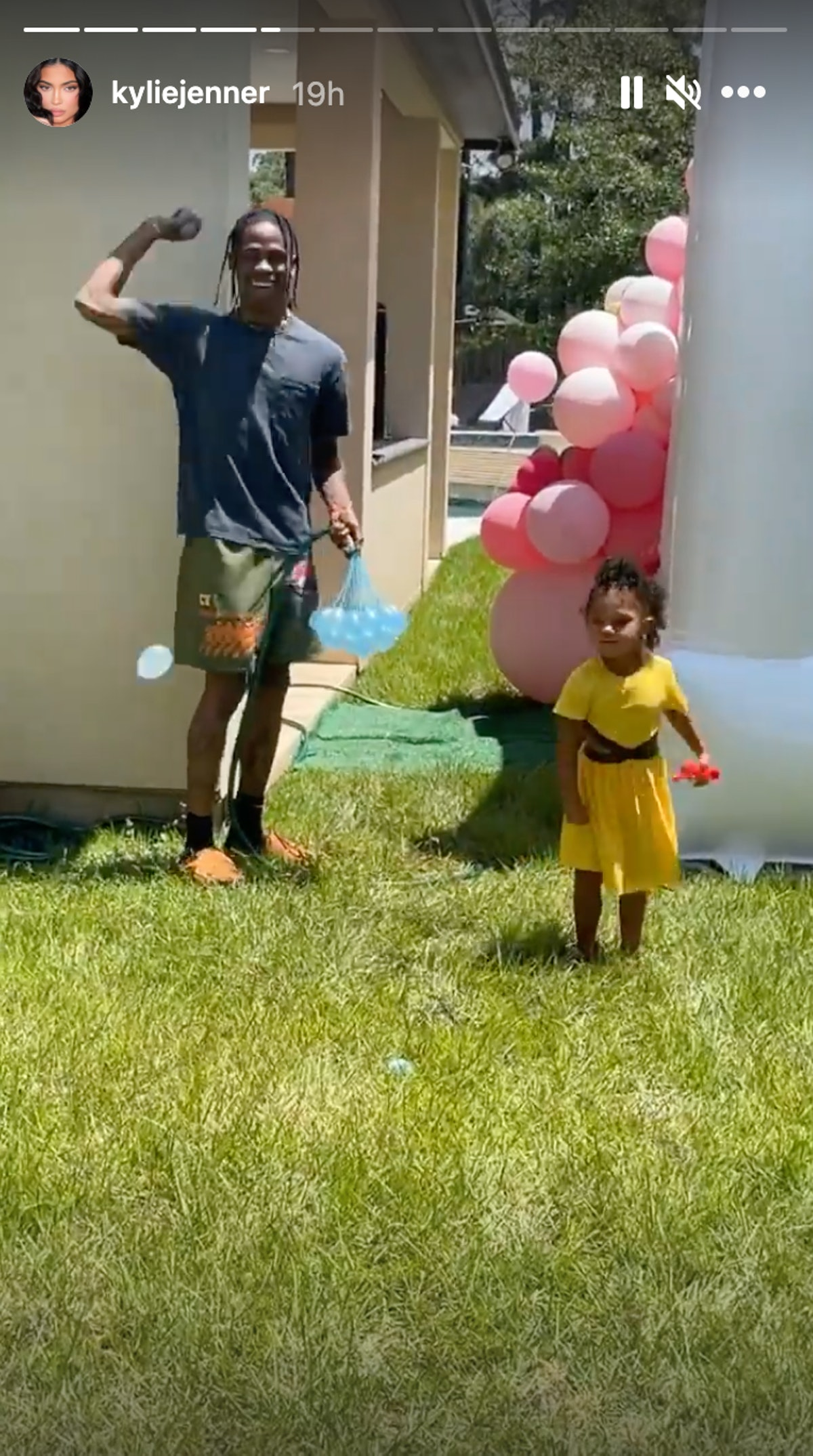 Kylie Jenner celebrated Memorial Day with Travis Scott and daughter Stormi.