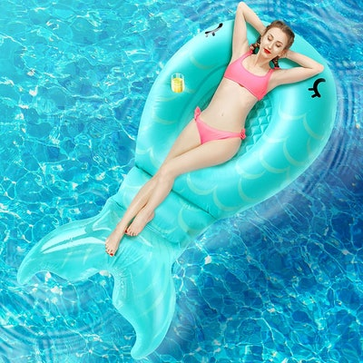 AirExpect Inflatable Mermaid Pool Float Floatie