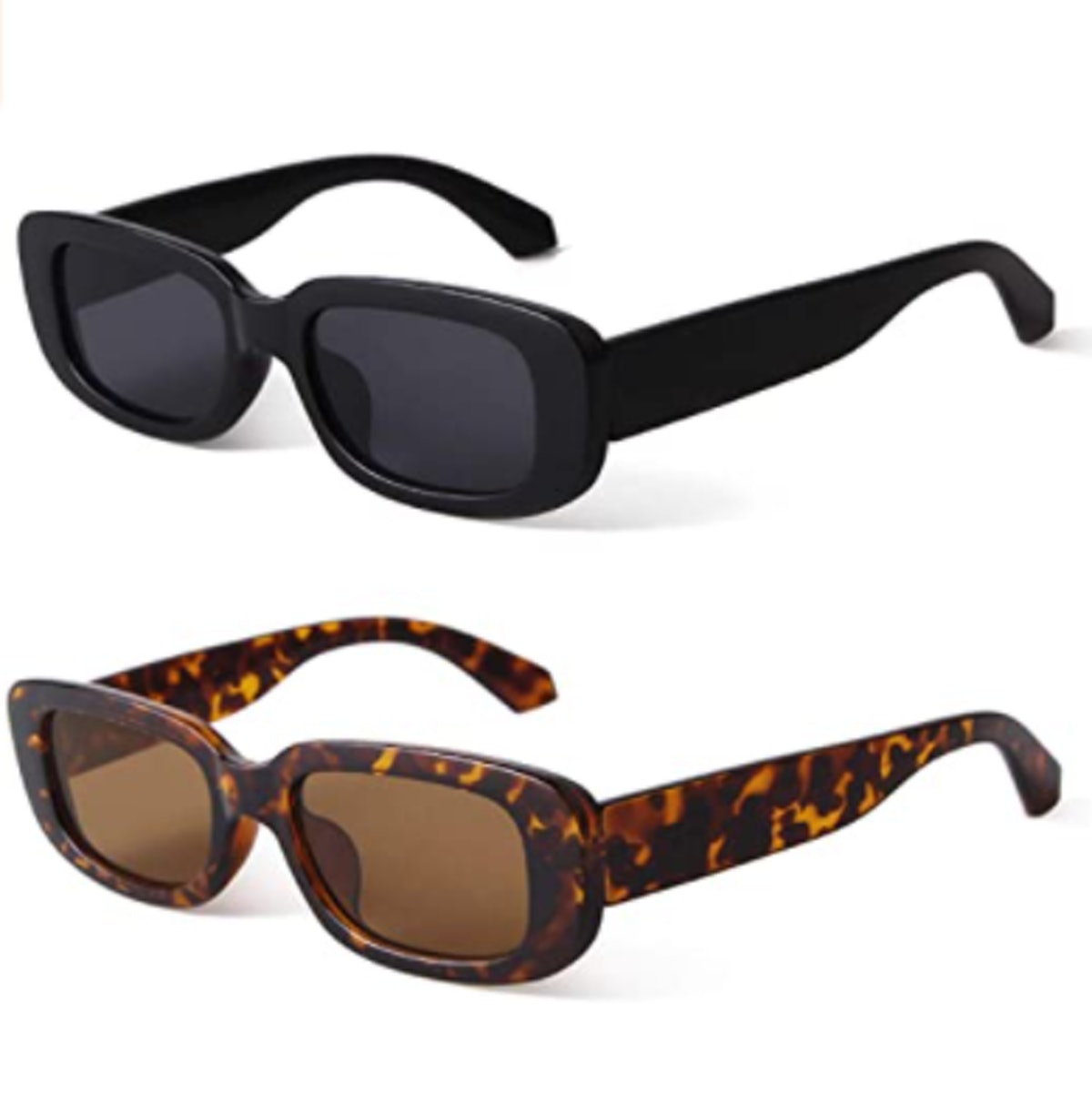 BUTABY Vintage Rectangle Sunglasses