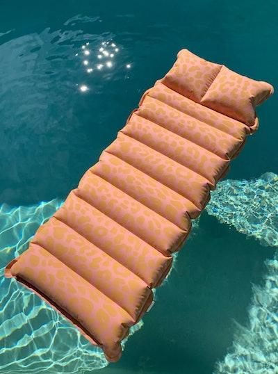 Sunnylife Leopard Print Lounger Pool Float