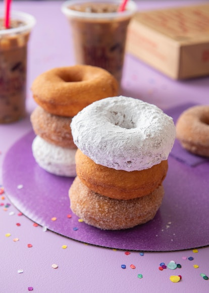 These stacked Duck Donuts are included in the National Doughnut Day 2021 deals.