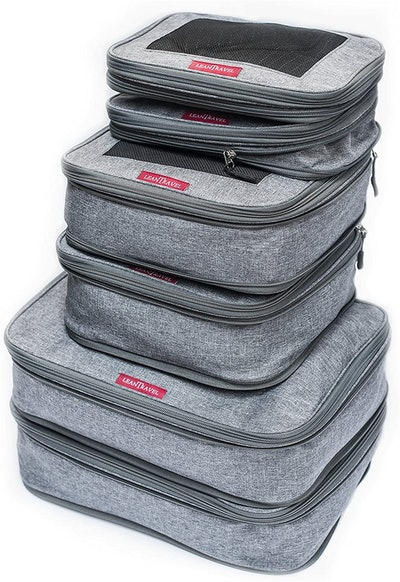 LeanTravel Compression Packing Cubes (Set Of 6)