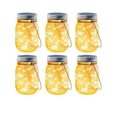 Brizled Solar Mason Jar Lights (6-Pack)