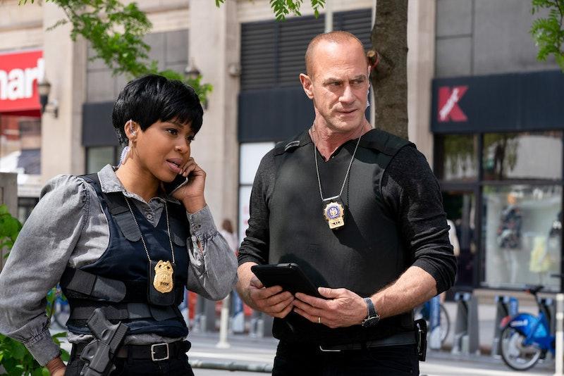 Danielle Moné Truitt as Sergeant Ayanna Bell, Christopher Meloni as Detective Elliot Stabler in Law & Order: Organized Crime Season 1 via NBC's press site