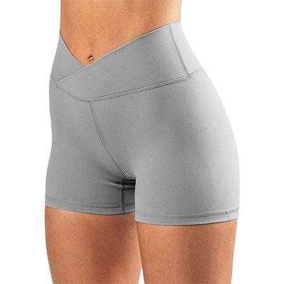 Puedizux Cross Waist Biker Shorts