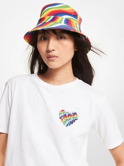 Michael Michael Kors Pride Rainbow Badge Organic Cotton T-Shirt