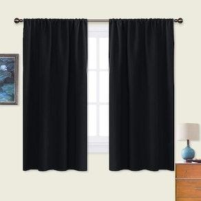 NICETOWN Black Blackout Curtain Blinds