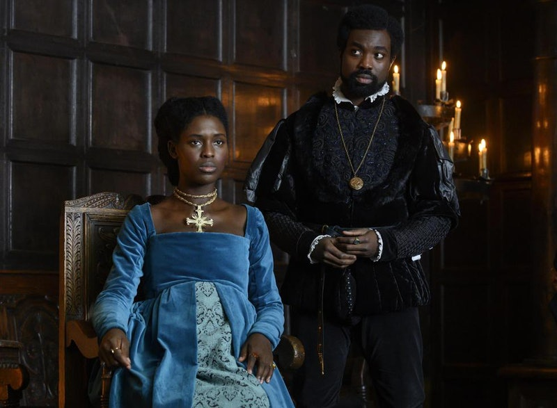 Jodie Turner-Smith and Paapa Essiedu in 'Anne Boleyn'.