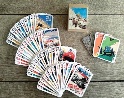 Retro Racing Playing Cards