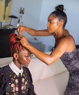 Gabrielle Union-Wade preps Zaya for her interview with Former First Lady Michelle Obama.