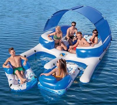 Bestway CoolerZ Tropical Breeze III Inflatable 8-Person Floating Island