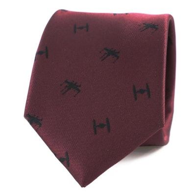BobbyShaftoe X-Wing and Tie-fighter necktie -Star Wars