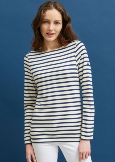 Minquiers Moderne Authentic Breton Stripe Shirt