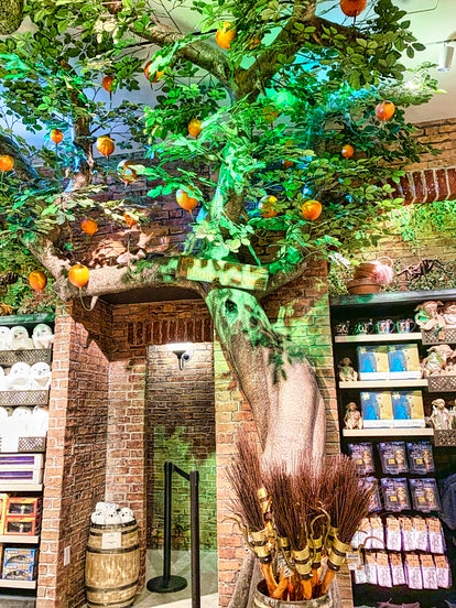 Scabbers hidden on a branch on the Dirigible plum tree in Harry Potter New York.