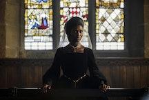 Jodie Turner-Smith as Anne Boleyn in the new Channel 5 drama.