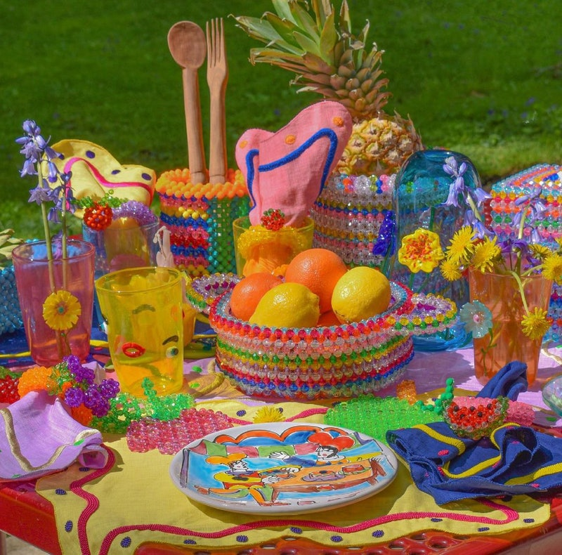 Susan Alexandra's new home collection makes for a colorful picnic.