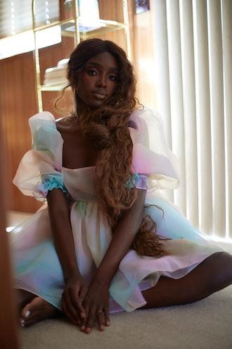 The Rainbow Puff Dress